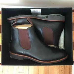 J Crew Men's Kenton Leather Chelsea Boots (Size 9)